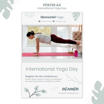 Internationales yoga-tagesplakat
