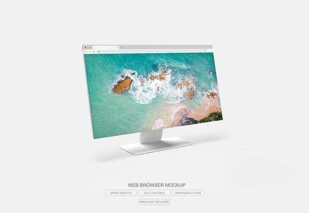 Internetbrowserfenster für zielseitenmodell