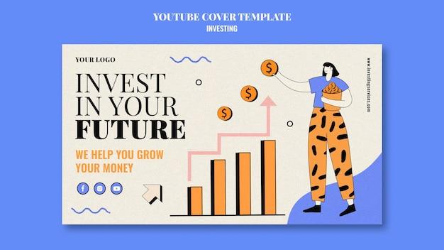 Investment-youtube-cover-vorlage illustriert Kostenlosen PSD