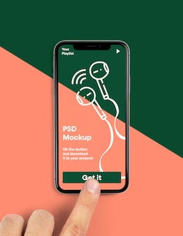 Iphone psd mockup