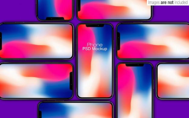 Iphone x psd-modellsammlungsszene