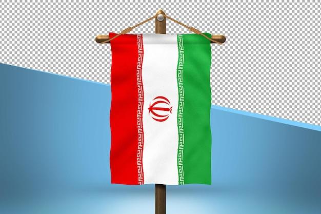 Iran hang flag design hintergrund