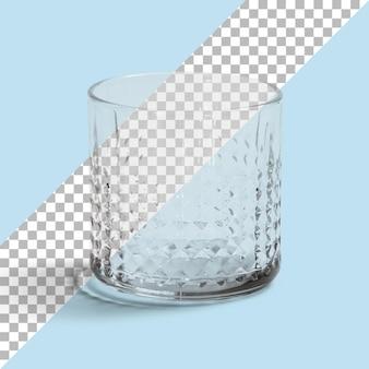 Isoliert ein leeres wasserglas