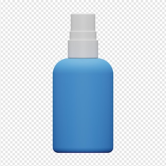 Isolierte 3d-darstellung von handdesinfektionsmittel-sprayer-symbol psd