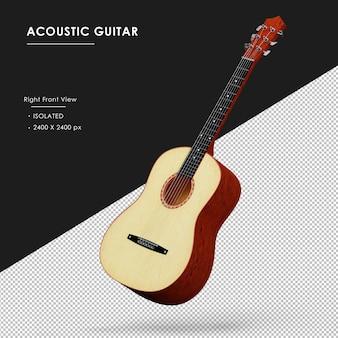 Isolierte akustikgitarre schwebend isoliert