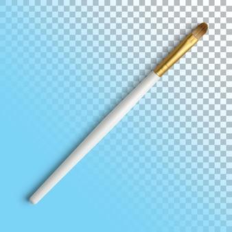 Isolierte nahaufnahme des weißen pinsels