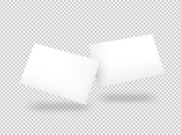 Isolierte packung mit weißen visitenkarten