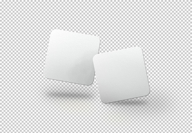 Isolierte packung oder quadratische karten