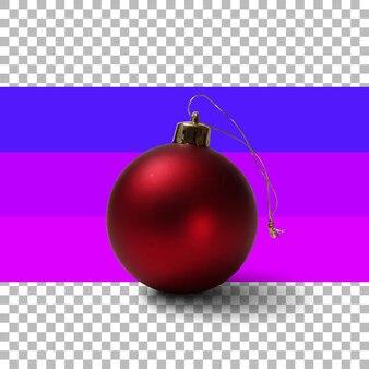 Isolierte rote weihnachtskugel