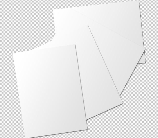 Isolierte sammlung von deckblättern