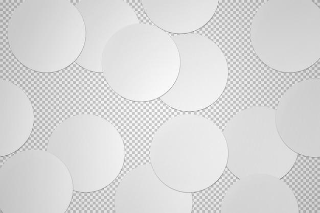 Isolierte sammlung von runden aufklebern