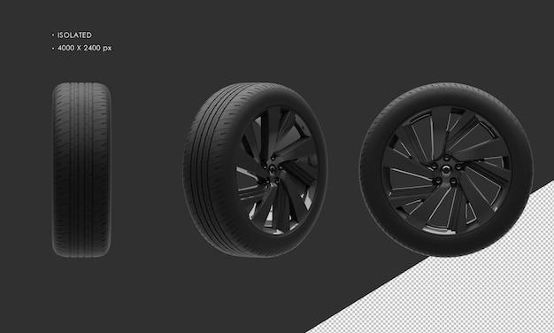Isolierte sport suv modern city car dark chrome felge und reifen