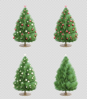 Isolierter 3ds weihnachtsbaum