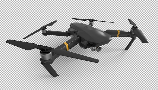 Isoliertes 3d-drohnen-rendering.