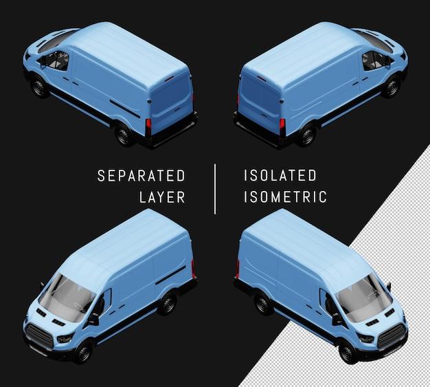 Isoliertes blaues generisches isometrisches van-auto-set