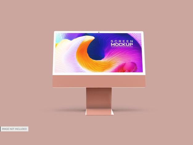 Isoliertes desktop-bildschirmmodell
