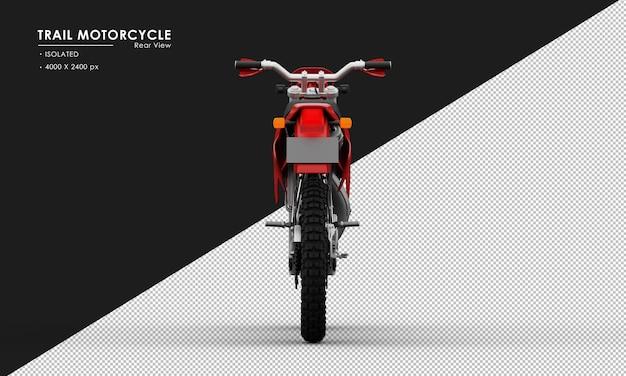 Isoliertes rotes hintermotorrad von der rückansicht