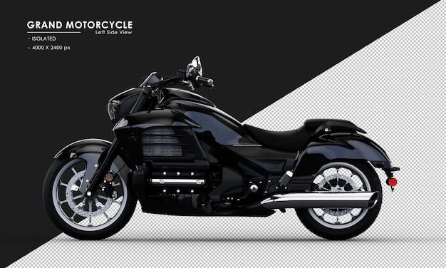 Isoliertes schwarzes großes motorrad im 3d-rendering
