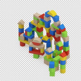 Isometric kid spielzeug