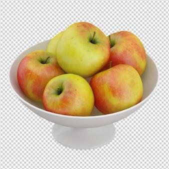 Isometrische äpfel