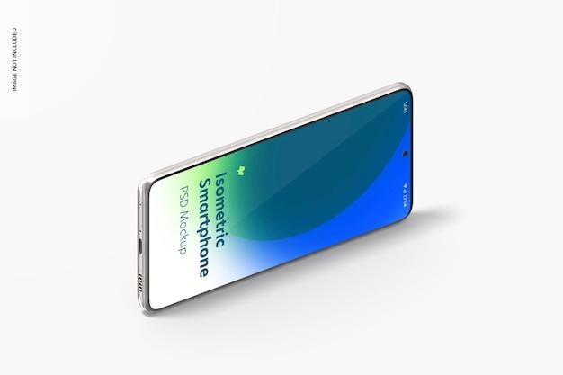 Isometrische ansicht des smartphone-modells
