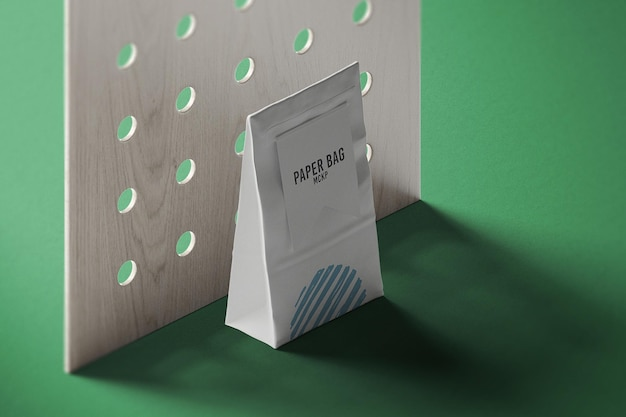 Isometrische ansicht papiertüte verpackungsmodell design