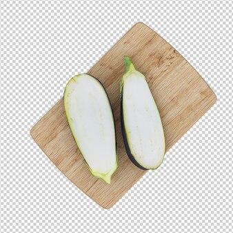 Isometrische aubergine