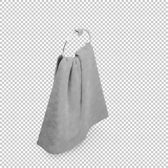 Isometrische badezimmer handtuch