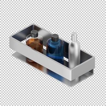 Isometrische badezimmerzubehör