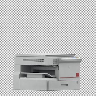 Isometrische büroausstattung 3d übertragen