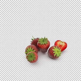 Isometrische erdbeeren