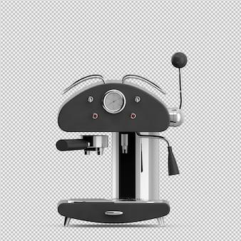 Isometrische kaffeemaschine 3d übertragen