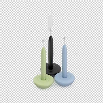 Isometrische kerzen
