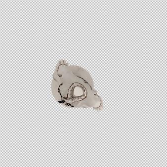 Isometrische kleidung als 3d isoliert rendern