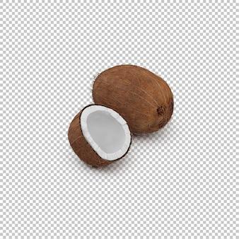 Isometrische kokosnüsse