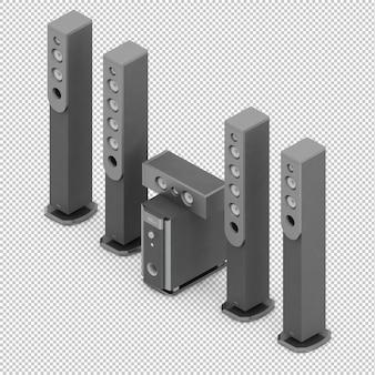 Isometrische lautsprecher