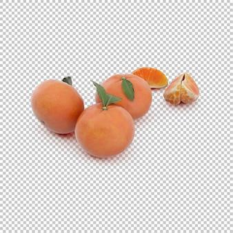 Isometrische mandarinen