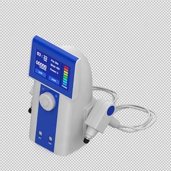 Isometrische medizinische ausrüstung 3d übertragen