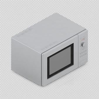 Isometrische mikrowelle 3d übertragen