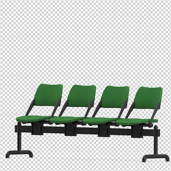 Isometrische öffentliche stühle