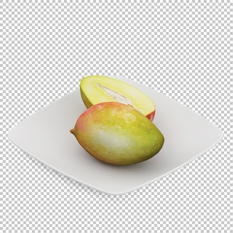 Isometrische papaya
