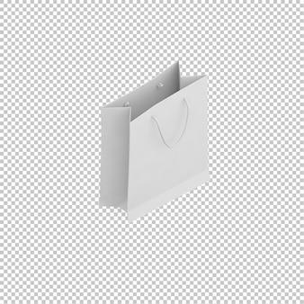 Isometrische papiertüte
