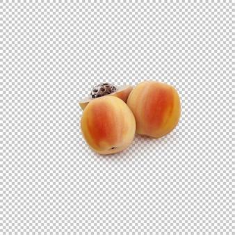 Isometrische pfirsiche
