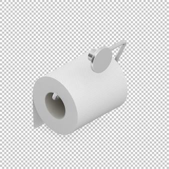 Isometrische rolle von toilettenpapier