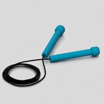 Isometrische sport- und turnhallenausrüstung 3d übertragen