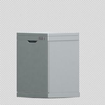 Isometrische spülmaschine 3d übertragen