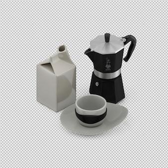 Isometrische teekanne 3d übertragen