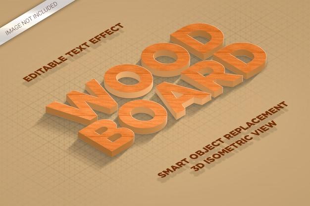 Isometrische text-effekt-art des modell-3d