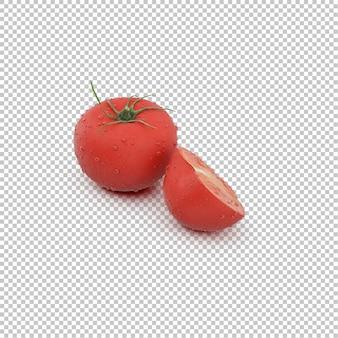 Isometrische tomaten