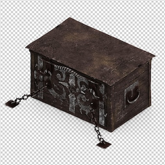 Isometrische vintage box